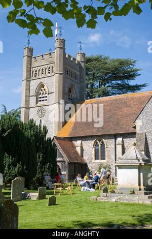 St Mary the Virgin Hambleden Buckinghamshire - Stock Photo