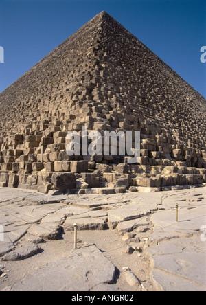 Khufu pyramid Giza Egypt - Stock Photo