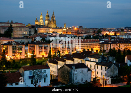 Cathedral de Santiago de Compostela, Santiago de Compostela, Galicia, Spain - Stock Photo