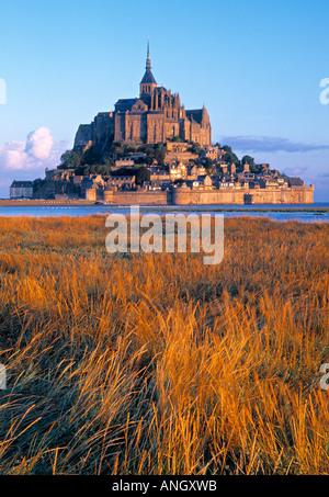 Mont St. Michel, Manche, Normandy, France - Stock Photo
