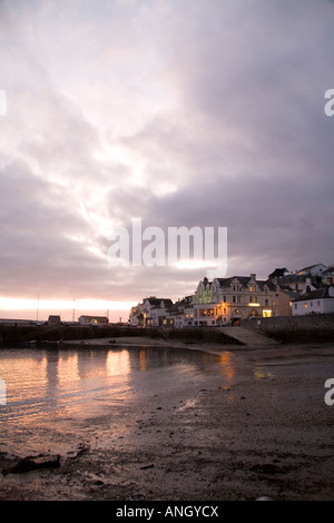 Sunset over St Mawes Harbour, Cornwall, England. - Stock Photo