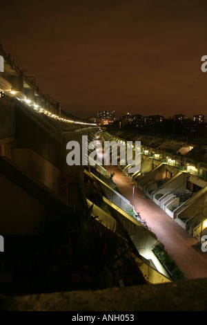 Camden Council Housing Estate at Night - Alexandra and Ainsworth aka Rowley Way - Stock Photo