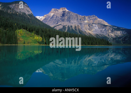 Emerald Lake in Yoho National Park, British Columbia, Canada. - Stock Photo