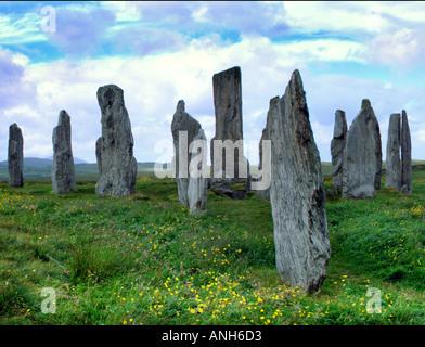 Callanish Stornoway megaliths outer Hebrides Lewiss Scotland UK Europe - Stock Photo
