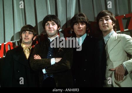 BEATLES in 1965 from left Ringo Starr, Paul McCartney, George Harrison and John Lennon - Stock Photo