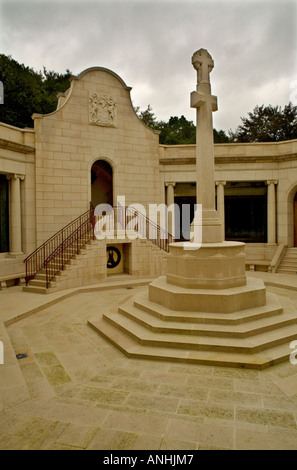 The Voortrekker cross at the South African memorial museum in Delville Wood in the Somme near Longueval France - Stock Photo