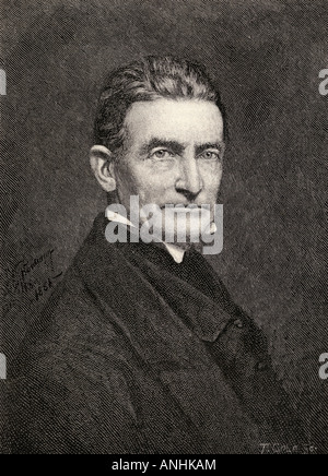 John Brown 1800 1859 White American abolitionist From the book The Century Illustrated Monthly Magazine May to October - Stock Photo