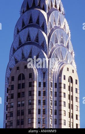 Chrysler Building USA New York City Midtown Manhattan Forty Second Street - Stock Photo