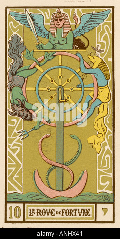 Tarot Wheel Of Fortune - Stock Photo