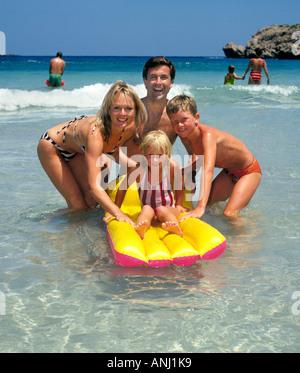 Happy smiling family on Holiday ! - Stock Photo