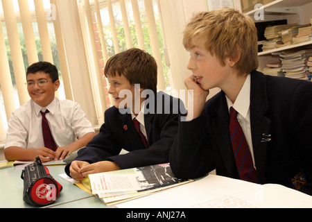 Boys working in the dyslexic unit Brighton college. UK - Stock Photo
