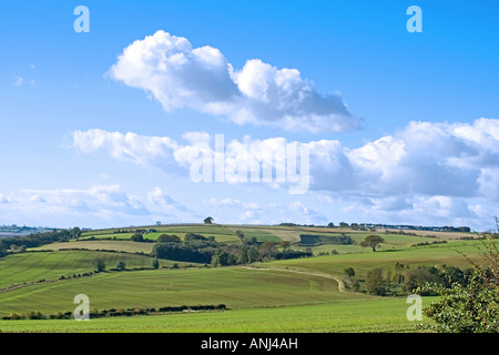 View over the Lincolnshire Wolds from Harrington - Stock Photo