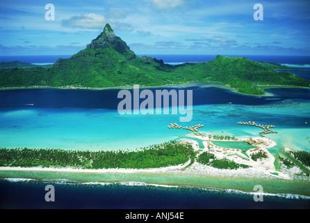 Bungalows Of Beachcomber Hotel In Taahina Bay On Bora Bora