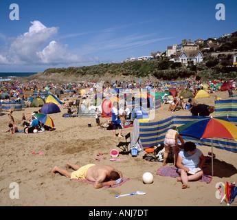 Woolacombe beach North Devon England UK. - Stock Photo