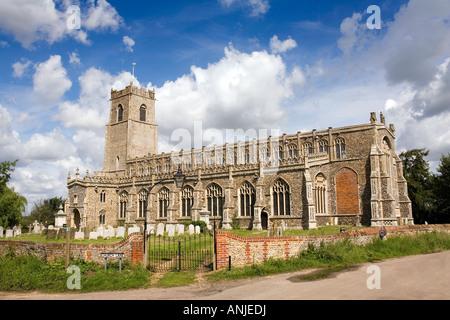 UK Suffolk Blythburgh village Holy Trinity Church - Stock Photo