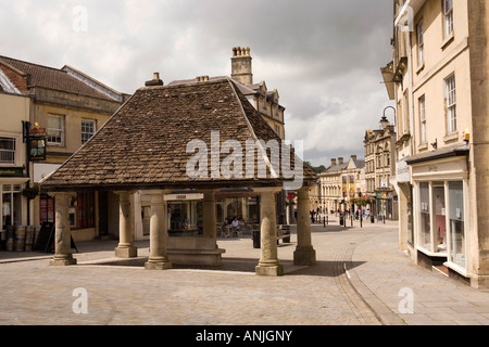 UK Wiltshire Chippenham Market Place Butter Cross re located in 1996 from Castle Combe Manor - Stock Photo