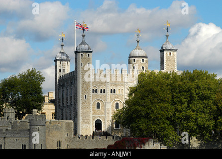 The White Tower at The Tower of London - Stock Photo
