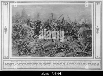 Wwi 1914 Mons Cavalry - Stock Photo