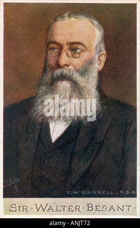 Sir Walter Besant - Stock Photo