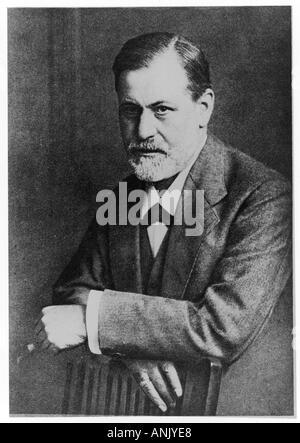 Sigmund Freud 1909 Neg 5 - Stock Photo
