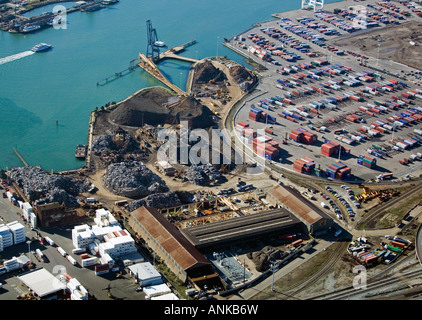 Aerial Schnitzer Steel Recycling Port Of Oakland California Stock - Schnitzer metal recycling