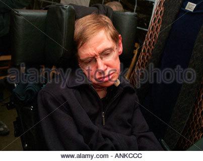Professor Stephen Hawking Nobel prize winning scientist Lucasian Professor of Mathematics 2004 - Stock Photo