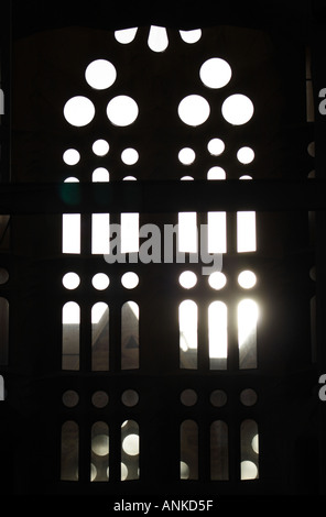 Inside the Central Nave Gaudi s Temple de la Sagrada Familia Barcelona - Stock Photo