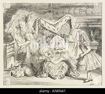 Alice In The Kitchen - Stock Photo