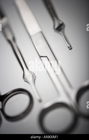 Close up of surgical instruments - Stock Photo