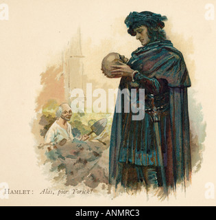 Hamlet And Skull - Stock Photo