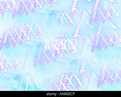 Abstract and Solarised Lights - Stock Photo