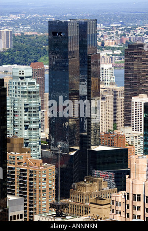 ^Time Warner Center New York twin towers - Stock Photo