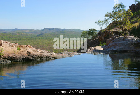 Gunlom Falls Kakadu Northern Territory Australia - Stock Photo