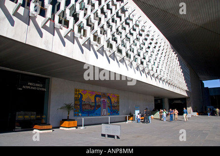 The interior of the front entrance to the National Museum of Anthropology in Mexico City Mexico - Stock Photo