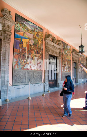 mural diego rivera national palace mexico city federal district stock photo royalty free