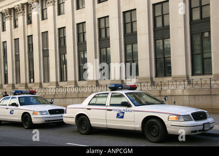 US Postal Police outside the New York City Post Office - Stock Photo