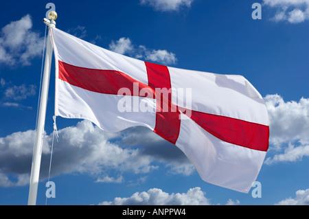 ENGLISH CROSS OF SAINT GEORGE FLAG - Stock Photo