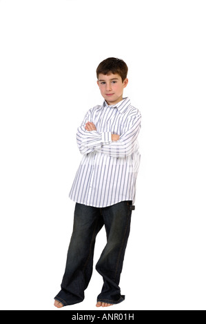 Young boy in studio - Stock Photo