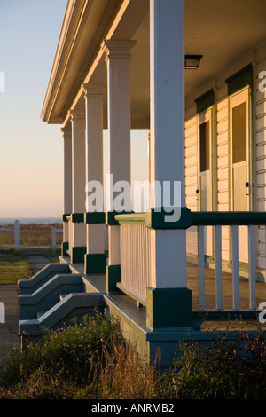 USCG light keeper residence at Point Wilson Lighthouse Port Townsend Washington USA - Stock Photo