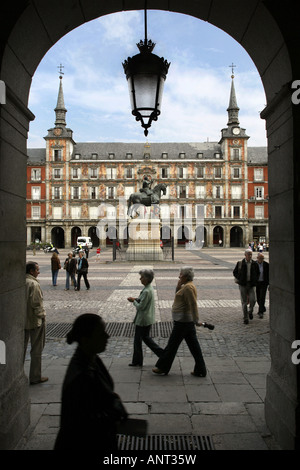 Plaza Mayor, Madrid, Spain - Stock Photo