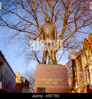 Aneurin Bevan Founder of the National Health Service Cardiff Wales UK  KATHY DEWITT - Stock Photo