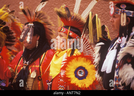 American Indian Kiowa Comanche Dancers Plains Indian Tribe Gallup Inter Tribal Indian Ceremonial Gallup New Mexico - Stock Photo