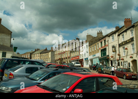 Market square Richmond North Yorkshire - Stock Photo