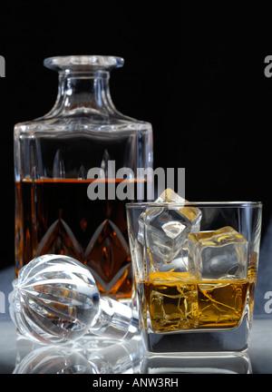 booze on the rocks - Stock Photo