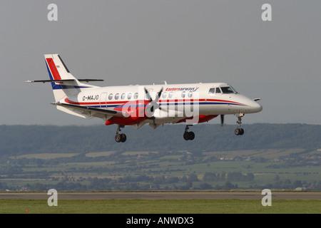 Eastern Airways Jetstream 41 turboprop regional airliner landing summer 2006 - Stock Photo