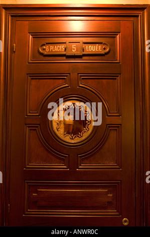 Entrance to box five at the Opéra de Paris Garnier - Stock Photo
