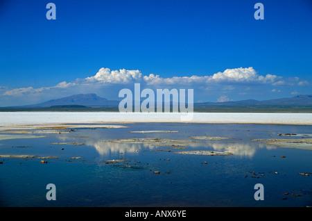 salt lake region of salar de uyuni altiplano highland bolivia - Stock Photo