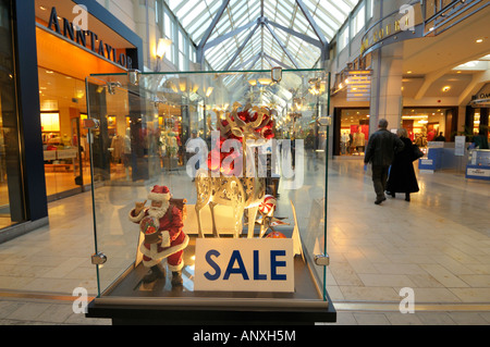 Shopping Mall in the Prudential Tower, Boston USA - Stock Photo