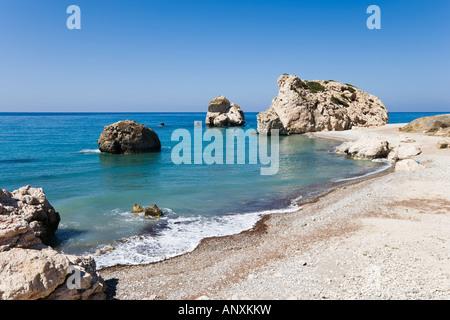 Aphrodite's Rock (or Petra tou Romiou), near Pissouri, West Coast, Cyprus - Stock Photo