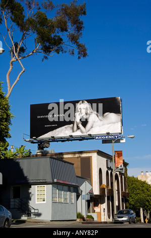 USA, California, Los Angeles, Hollywood. Advertising hoarding. - Stock Photo